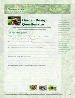 Backyard design questionnaire for Garden design questionnaire